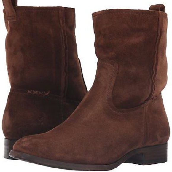 4154a999829 Frye Shoes - New w o Box Frye Brown Suede Leather Boots Size 10